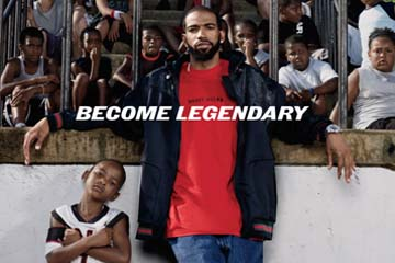"Jordan Brand's new tagline, ""Become Legendary"""