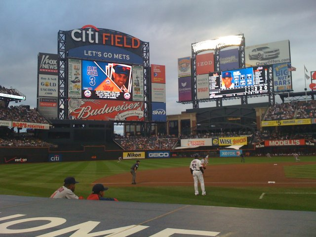 Citi Field has over 30 sponsors on outfield walls